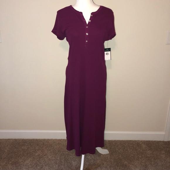 Ralph Lauren Dresses & Skirts - Ralph Lauren berry midi dress /short sleeve